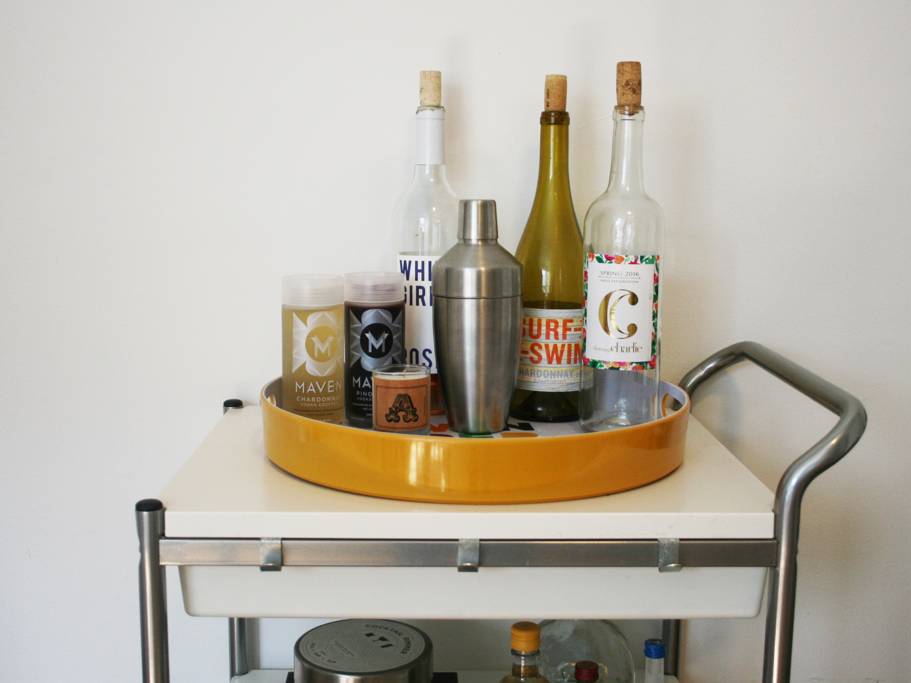 Bar Cart Diy Top Shelf