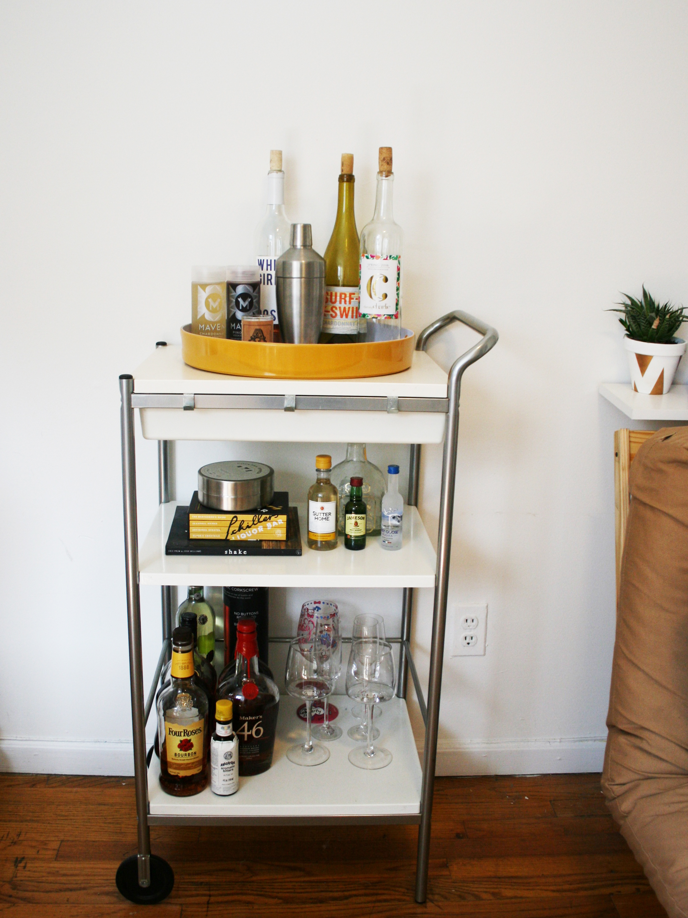 Diy Bar Cart Before